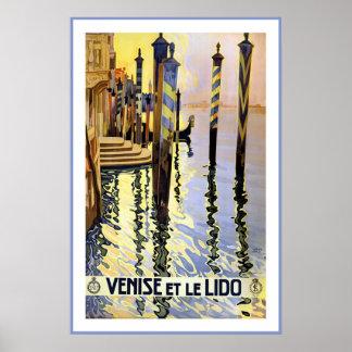 Venise und Reise-Plakat Le Lido Vintage Poster