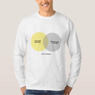 Venn Diagram mich + Sie lange Hülsen T-Shirt