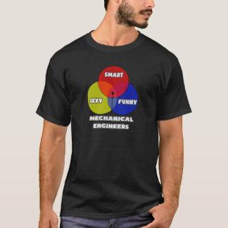 Venn Diagramm. Maschinenbauingenieure T-Shirt