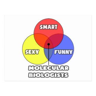 Venn Diagramm. Molekularbiologen Postkarte