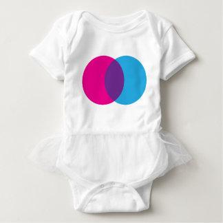 Venn Diagramm-Rosa, Blau u. Lila Baby Strampler