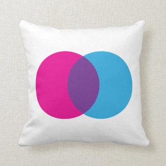 Venn Diagramm-Rosa, Blau u. lila | Kissen