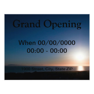 Ventura-Sonnenuntergang 21,6 X 27,9 Cm Flyer