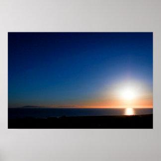 Ventura-Sonnenuntergang Poster