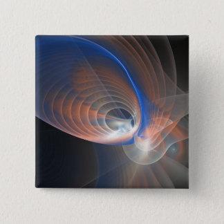 Venus abstraktes Fracctal Quadratischer Button 5,1 Cm