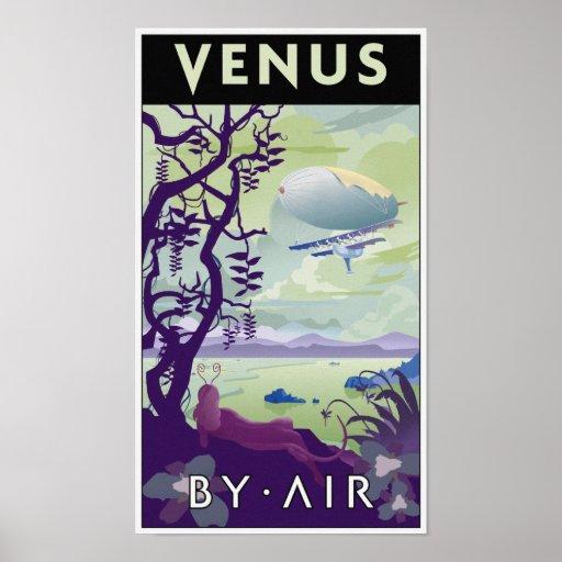 Venus auf dem Luftweg Posterdruck