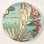 Venus durch Botticelli Sandstein-Untersetzer