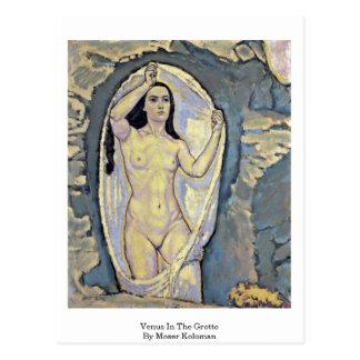 Venus in der Grotte durch Moser Koloman Postkarte