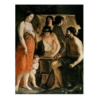 Venus in Vulcans Schmiede, 1641 Postkarte