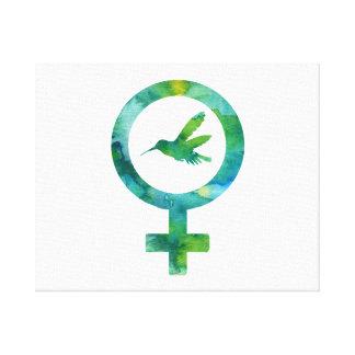 Venus-Kolibri Leinwanddruck