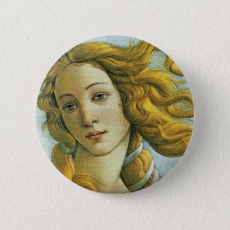 Venus * Sandro Botticelli Runder Button 5,1 Cm