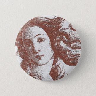Venus * Sandro Botticelli Runder Button 5,7 Cm