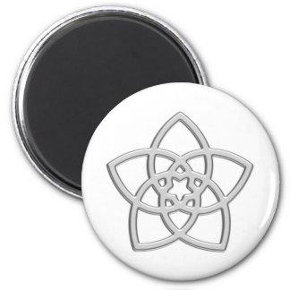 Venusblume - Blume der Liebe Runder Magnet 5,7 Cm
