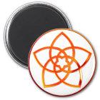 Venusblume / Venus Flower RED Runder Magnet 5,7 Cm