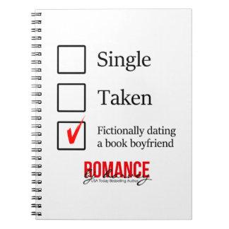 Verabredete fiktiv einen Buch-Freund Notizblock