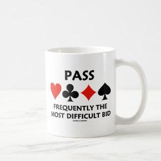 Verabschieden Sie häufig das schwierigste Angebot Tasse