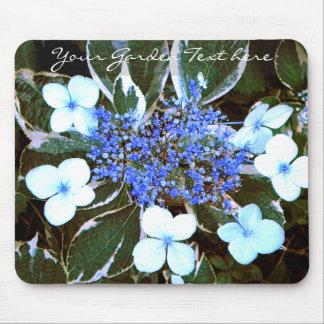 Veränderter blauer Hydrangea Mousepad