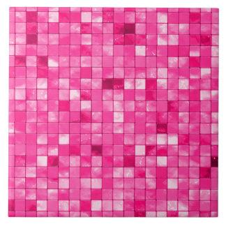 Verändertes Girly pinkfarbenes geometrisches Fliese
