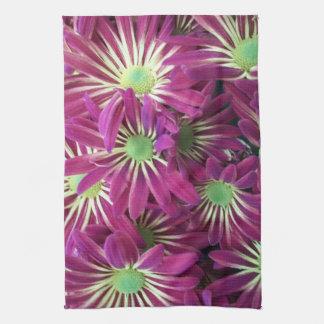 Verändertes lila Aster-Blumen-Küchen-Tuch-Set Handtuch