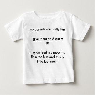 Veranschlagen Sie Ihre Eltern: 8 aus 10 heraus Baby T-shirt