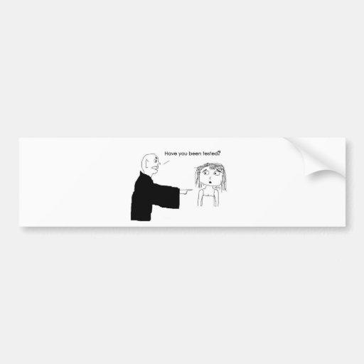 Verantwortlicher Vampir Auto Sticker
