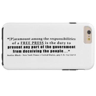 Verantwortung eines freie Presse-Zitats Tough iPhone 6 Plus Hülle