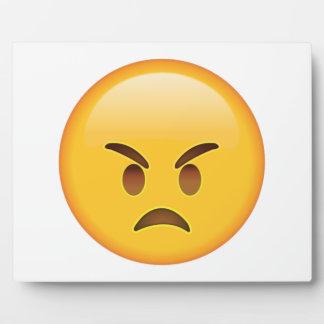 Verärgert - Emoji Fotoplatte