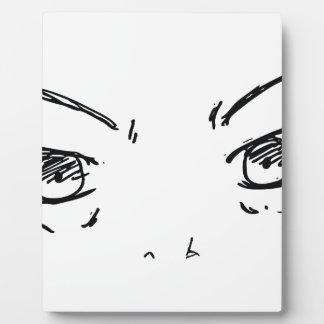 Verärgerte Augen 1 Fotoplatte
