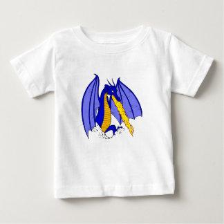 Verärgerte blaue Feuer-Verschnaufpause Baby T-shirt