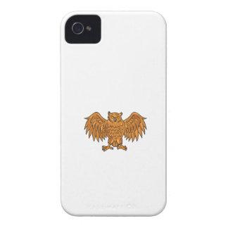 Verärgerte Eulen-Flügel verbreitetes Zeichnen iPhone 4 Hüllen