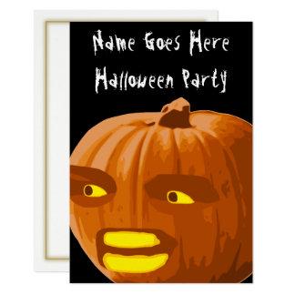 Verärgerte Kürbis-Halloween-Party-Einladung Karte