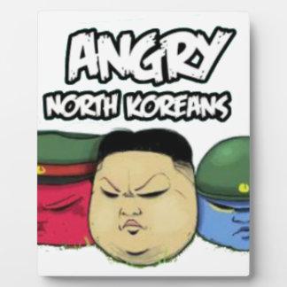 Verärgerte Nordkoreaner Fotoplatte