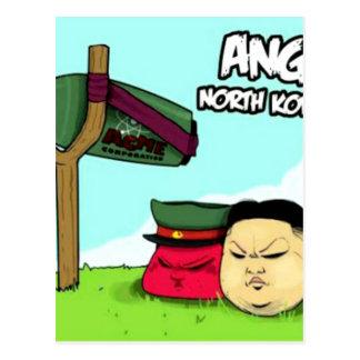 Verärgerte Nordkoreaner Postkarte