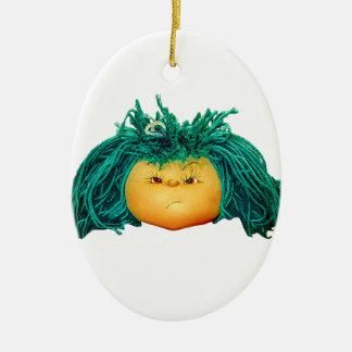 Verärgerte Puppe Keramik Ornament