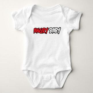 Verärgerter Baby-T - Shirt-Entwurf Baby Strampler