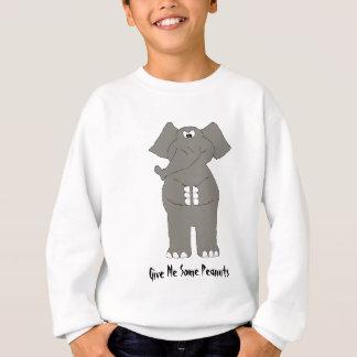 Verärgerter Cartoon-Elefant Sweatshirt