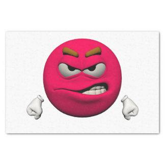 Verärgerter Emoticon Seidenpapier