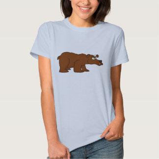 Verärgerter Entwurfs-T - Shirt des braunen Bären