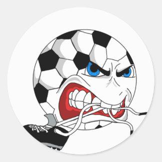 Verärgerter Fußball Runder Aufkleber