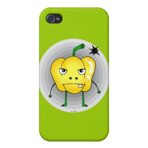 Verärgerter gelber Paprika Schutzhülle Fürs iPhone 4