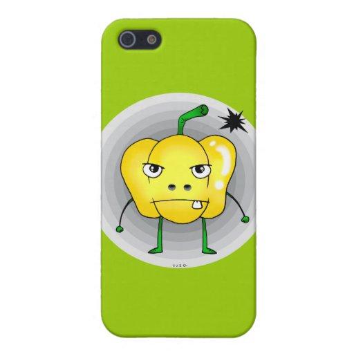 Verärgerter gelber Paprika iPhone 5 Case