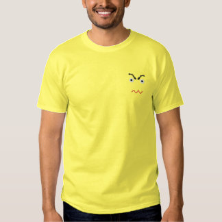Verärgerter gestickter T - Shirt