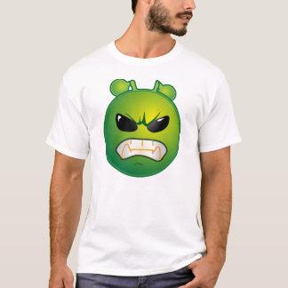 Verärgerter grüner Emoticon T-Shirt