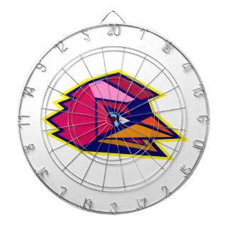 Verärgerter Hahn-niedriges Polygon Dartscheibe