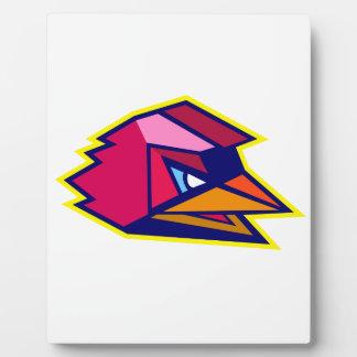 Verärgerter Hahn-niedriges Polygon Fotoplatte
