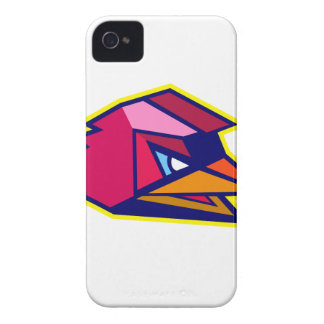 Verärgerter Hahn-niedriges Polygon iPhone 4 Hüllen