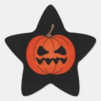Verärgerter Kürbis Halloweens Stern-Aufkleber