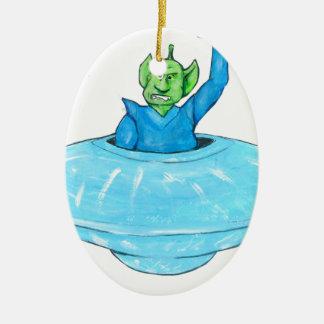 Verärgerter Marsmensch Keramik Ornament