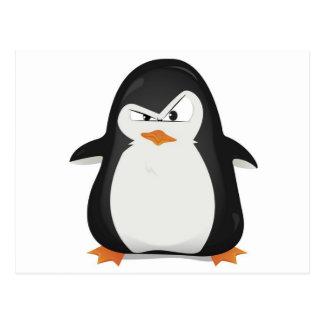 Verärgerter Pinguinentwurf Postkarte