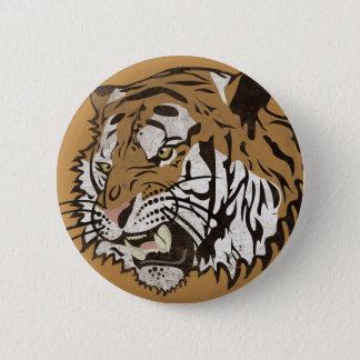 Verärgerter Tiger Runder Button 5,7 Cm